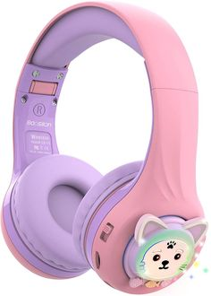 The light-up kids headphones are a favourite with children, they flash with the music while you listen or study, and not only that, they are foldable so we can take them with us everywhere without taking up space. Cat Headphones, Bluetooth Headphones, Technology Gifts, Gifts For Boys, Light Up, Flash Drive, Purple, Amazon, Cup Cakes