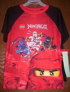 Lego NINJAGO Red Pajamas Shirt Shorts Pjs set size 8 NEW $22.99