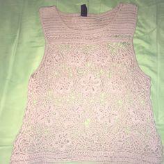 CROCHET TOP Flower crochet top *used it twice* accept offers Tops