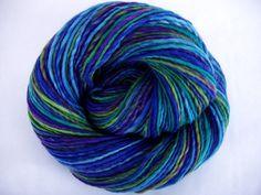 Handspun merino yarn, merino yarn, crocheting yarn, dolls hair, felting yarn, handspun yarn, rainbow yarn, worsted yarn,  FAIRYLAND, 230yds