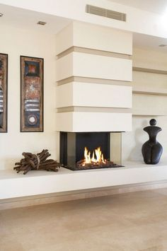 Modern and Sleek Contemporary Fireplaces - 49 Inspiring Incredible Contemporary . - Modern and Sleek Contemporary Fireplaces – 49 Inspiring Incredible Contemporary Fireplace Design - Craftsman Fireplace, Slate Fireplace, Cottage Fireplace, Home Fireplace, Living Room With Fireplace, Fireplace Ideas, Fireplace Modern, Country Fireplace, Fireplace Pictures