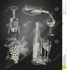 Wine Chalkboard Decorative Set - Download From Over 28 Million High Quality Stock Photos, Images, Vectors. Sign up for FREE today. Image: 40459975