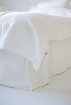 white on white bedding