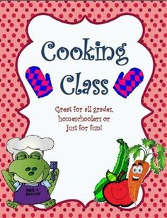 This Cooking Class project is a great activity for cooking classes, homeschooling, parties or fun with your kids.You can integrate in the curriculum. The activity promotes good social skills, fun learning, critical learning, math and  responsibility.This product contains: (a colored and a black and white version) - Step by step recipes with pictures (all are easy to do and cheap;):        - Bake an easy Cake        - Savarine        - Courgette Cakes        - Lemonade        - Homemade…