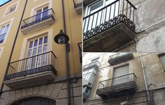 Antes y después de edificio a rehabilitar. Rehabilitación de Fachada en Calle Cordeta 4, Alicante