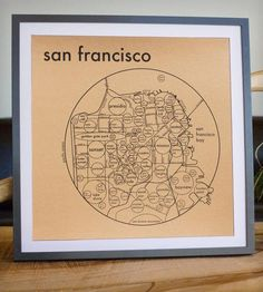 Large San Francisco Circle Map Print by Archie's Press on Scoutmob Shoppe