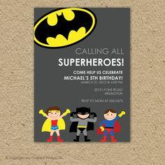 There are so many cute superhero invitations.