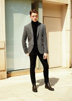 37 Business Casual Men Outfits you Can Wear Everyday During Winter Blazer Outfits Men, Outfits Casual, Stylish Mens Outfits, Mode Outfits, Trajes Business Casual, Business Casual Men, Business Casual Outfits Mens, Formal Men Outfit, Men Formal