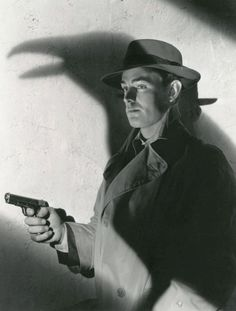 Alan Ladd in publicity still for This Gun for Hire (1942, dir. Frank…