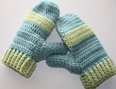 So Cute Crochet Mittens PATTERN - with Shaped thumbs. $3.99, via Etsy.