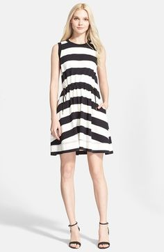kate spade new york stripe fit & flare dress available at #Nordstrom