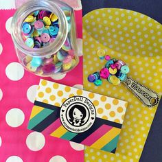 biz cards, cute bags and a teaspoon of sequins