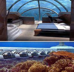 Poseidon Undersea Resort, Fiji. When I win lotto I will stay here.