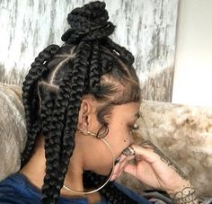 India Westbrooks | jumbo box braids