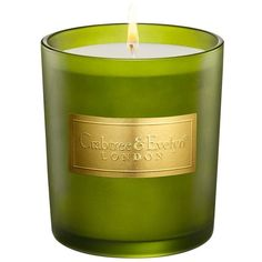 Crabtree & Evelyn 'Windsor Forest' Large Candle (7.927 KWD) ❤ liked on Polyvore featuring home, home decor, candles & candleholders, candles, windsor forest, scented candles, round candles, forest home decor and fragrance candles