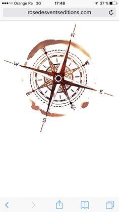 Compass – Graffiti World Nautical Compass Tattoo, Compass Rose Tattoo, Compass Tattoo Design, Fake Tattoo, Tattoo Now, Diy Tattoo, Wrist Tattoo, Simplistic Tattoos, Unique Tattoos