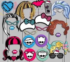 Monster High Party Photo Booth Props Monster by IraJoJoBowtique - Modernes Cumple Monster High, Monster High Birthday, Monster High Party, Birthday Cards For Boys, 6th Birthday Parties, Mom Birthday Gift, Birthday Cakes, Birthday Ideas, Monster High Invitations