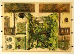 c. 38 / c. 39 / c. 41 / c. 49. / c. 58 [Teile für Wald-, Gastwirtschaft und Bauernstuben-Dekorationen, Stapfer`s Familientheater]