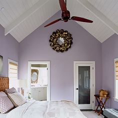 The ceilings.  So badly want to do this to our living room's vaulted ceilings...