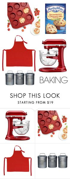 """""""Let's get Baking! #5"""" by svs-selma-svs ❤ liked on Polyvore featuring interior, interiors, interior design, home, home decor, interior decorating, Frontgate, Farberware, Falcon Enamelware and Kitchen Craft"""