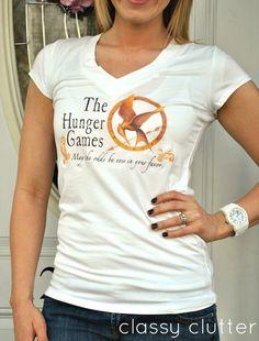 Rae Gun Ramblings: Guest Post: The Hunger Games T-Shirt Tutorial with Classy Clutter