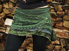 Yara Skirt Green  Festival Gypsy Bohemian Skirt door AryaClothing