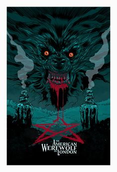 Nightmare on Film Street is the horror movie podcast and horror movie news website launched in 2016 by two horror nuts with zero credibility. Horror Icons, Horror Movie Posters, Movie Poster Art, Film Posters, American Werewolf In London, Werewolf Art, Horror Artwork, Classic Horror Movies, Horror Show