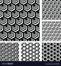Find Seamless Geometric Patterns Designs Set Hexagonal stock images in HD and millions of other royalty-free stock photos, illustrations and vectors in the Shutterstock collection. Thousands of new, high-quality pictures added every day. Geometric Patterns, Graphic Patterns, Geometric Designs, Textures Patterns, Geometric Shapes, Honeycomb Pattern, Hexagon Pattern, Pattern Drawing, Pattern Art