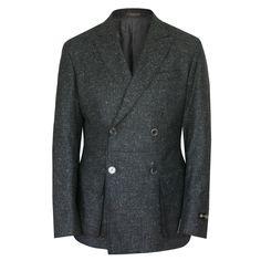 CORNELIANI $1520 double brested speckled tweed blazer sportcoat jacket 40/50 NEW #Corneliani #DoubleBreasted