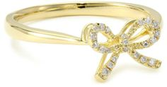 """KC Designs """"Trinkets"""" Yellow Gold and Diamond Baby Bow Ring, Size 7 Baby Girl Poems, Rings For Her, Baby Bows, Jewelry Collection, Gold Rings, Jewelry Making, Gems, Rose Gold, Engagement Rings"""