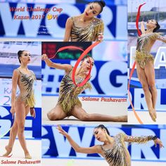 Salome PAZHAVA (Georgia) ~ Ribbon collage @ World Challenge Cup Kazan 13/08/2017 Photographer Oleg Naumov (Russia).