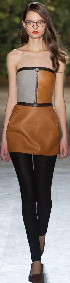 Didit Hediprasetyo Haute Couture Spring 2014 . #blackandbrown #block