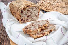 Bezglutenowy chleb na zakwasie z żurawiną i orzechami włoskimi Banana Bread, Food, Eten, Meals, Diet