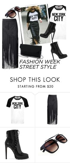 """Fashion Week Street Style"" by clotheshawg ❤ liked on Polyvore featuring H&M and Alaïa"