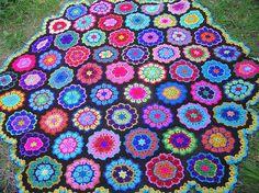 beautiful  crochet   picnic blanket / throw /bedspread.. $395.00, via Etsy.