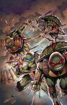 Ninja Turtles Art, Teenage Mutant Ninja Turtles, Sonic Vs Knuckles, 90s Cartoons, Tmnt, Art Google, Geek Stuff, Fan Art, Superhero