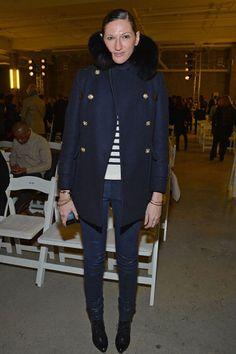 Jenna Lyons: great coat!