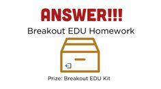 Homework — Breakout EDU Too Cool For School, School Fun, Breakout Edu Games, Breakout Boxes, Math 5, Classroom Procedures, French Teacher, School Items, 5th Grades