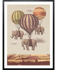 Flight of the Elephants of Terry Fan now on JUNIQE!