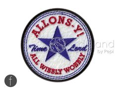 Allons-y Doctor Who Iron On Patch by FerdinandWorks on Etsy