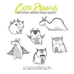 Hand Drawn Homes Clip Art, Cute Homes Clipart, Doodle Houses, Hand ...