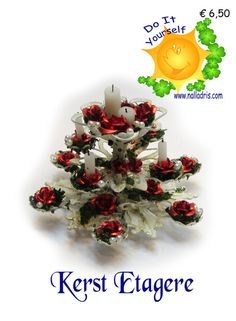 Workshop Etagere Kerstmis | Workshops - Kerstmis | Nalladris Beads Making, How To Make Beads, Miniature Christmas, Christmas Tree, Sun, Dolls, Holiday Decor, Home Decor, Puppets