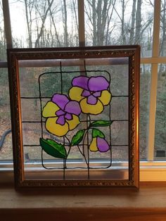 Have always loved stained glass, and with all the snow lately I decided I needed a little spring! What u need: A picture frame or piece of gl…