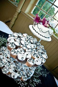 Vintage cupcake wedding cake.