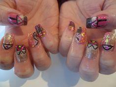 Tribal Gel Nails