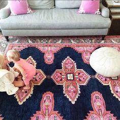 Caitlin Wilson Navy Kismet Rug - oh la la Home Design, Design Design, Home Interior, Interior Design, Sweet Home, Navy Rug, My New Room, My Dream Home, Home Accessories