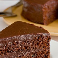 Recipe:  Southern-Style Chocolate Cake with Chocolate Ganache Frosting  — Recipes from The Kitchn