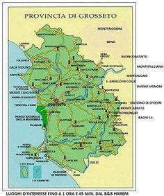 Tuscany - Grosseto province  Places of interest.  www.bbharem.com