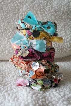 $15 Braided Fabric Bracelet via etsy (theadoptshoppe)