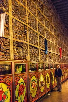 Sakya Monastery Library, Large Collection of Sutras Buddhist Temple, Buddhist Art, Buddhist Texts, Meditation, Historical Artifacts, Tibetan Buddhism, Life Organization, Beautiful Roses, Nepal